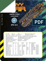 Fleet Land Ship Data Cards