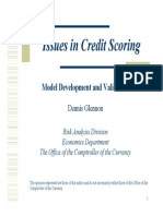 Glennon - Issues in Credit Scoring