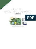 Adafruit Raspberry Pi Lesson 1 Preparing and Sd Card for Your Raspberry Pi