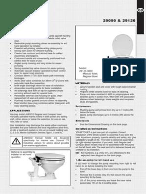 Jabsco 29045 Twist N Lock Marine Manual Toilet Service Kits ...