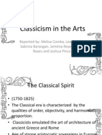 Classicism in the Arts
