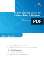 An Early Warning System for Currency Crisis in Mongolia