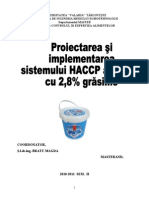Proiectarea Si Implementarea HACCP Iaurt
