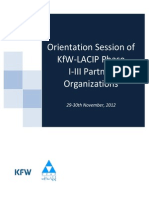 Orientation Session Workshop With Phase 1-3 Partner Organizations Report Nov 29-30th 2012