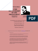 ETIENNE BALIBAR ON THE DICTATORSHIP OF THE PROLETARIAT