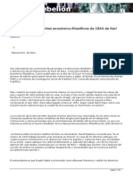 Lukács y los Manuscritos económico-filosóficos de 1844 de Karl Marx