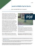LandscapingBackyards for Wildlife Top Ten Tips for Success