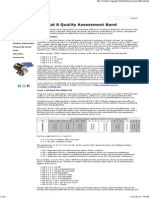 Landsat 8 Quality Assessment Band