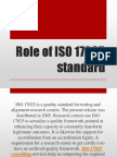 Role of ISO 17025 Standard
