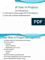 Role of User in Projects