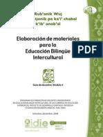 ELABORACION DE MATERIALES BILINGÜES