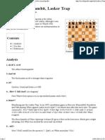 Albin Countergambit, Lasker Trap - Wikipedia, The Free Encyclopedia