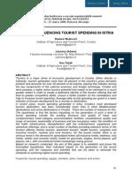 FACTORS INFLUENCING TOURIST SPENDING IN ISTRIA