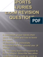 Sports Injuries Exam Questions