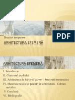 ARHITECTURA EFEMERA