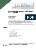 Cisco UCS Platform Emulator Release Notes Version 2.2(1bPE1)bnn