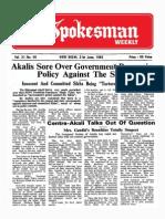 The Spokesman Weekly Vol. 31 No. 40 June 21, 1982