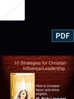 10 Strategies for ChristianInfluence/Leadership