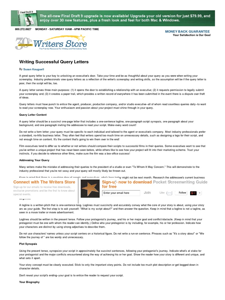 Writing successful query letters screenplay envelope altavistaventures Image collections