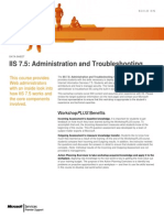 IIS 7.5 Administration and Troubleshooting WorkshopPLUS(4Days)