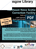 Northeast Nova Scotia Corrrection Facility Public Information Session (ThJan30 7pm) - New Glasgow Library