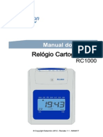 Manual RC 1000  Relógio de Ponto