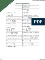 Tabela de Identidades Trigonometricas