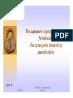 Curs9 Restaurare Suprafete Furniruite Intarsie Marchetarie