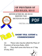 Place of Provision of Service Rules 2012