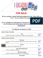 New Release - Equipment for Sale January 23, 2014