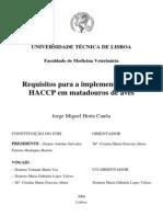 Requisitos para a implementaçao do HACCP em matadouros de aves