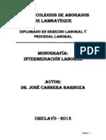 Intermediacion Laboral y Tercerizacion-cabrera