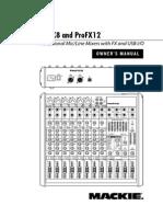 Mackie's pro fx mixer operation manual