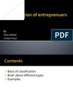 Classification of Entreprenuers-OK