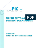 TO FIND FATTY MATERIAL OF DIFFERENT SOAP SAMPLES