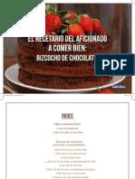 Recetario Bizcocho Chocolate PDF Gratis