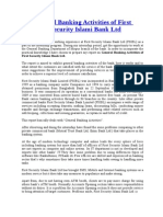 Overview of First Security Islami Bank ltd.
