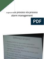 Optimize Process via Process Alarm Management