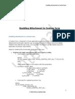 Enabling Attachment in Custom Form