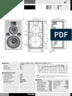 Difusor 3 Vias Reflex 300w