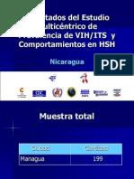 Resultados Estudio Multicentrico HSH Nicaragua