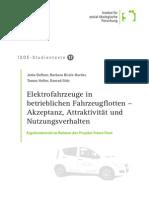 Elektrofahrzeuge in betrieblichen Fahrzeugflotten – Akzeptanz, Attraktivität und Nutzungsverhalten