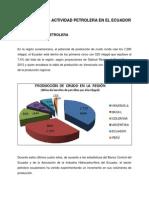 Resumen de La Actividad Petrolera en El Ecuador