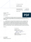 Dept. of Justice Letter Announcing Investigation Into the CT Judicial Branch's Handing of Cases