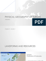 Physical Geography of Europe Lesson Slides