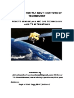 Remote Sensing,Gis and Gps