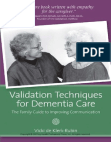 Validation Techniques for Dementia Care: The Family Guide to Improving Communication (De Klerk Rubin Excerpt)