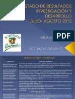 Estado de Resultados Investigacion y Desarrollo Agosto 2012
