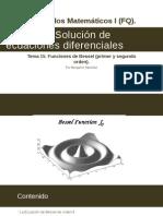 Tema 15. Funciones de Bessel (Primer y Segundo Orden).