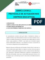 Protocolo Actuación Gripe A en Centros Escolares